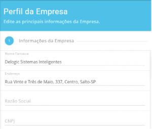 Editar dados empresariais - Lean5S